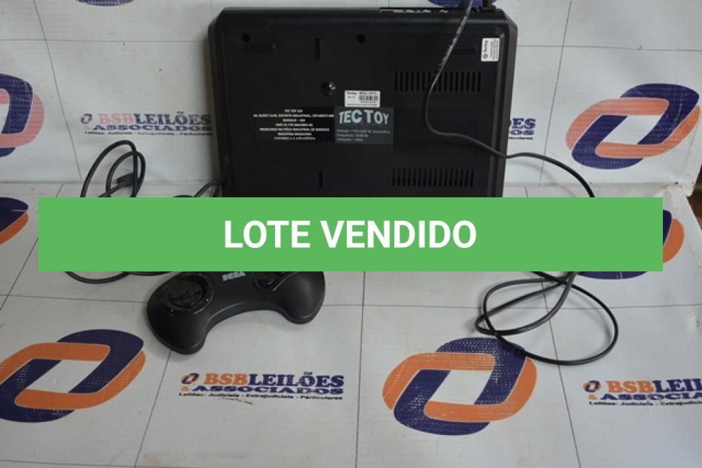 LOTE 018 - 01 MEGA DRIVE SEGA 16-BIT COM 01 CONTROLE INCOMPLETO. (NO ESTADO)