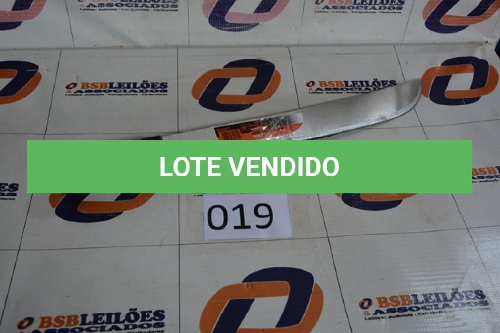 LOTE 019 - 02 FACÕES CORTA MATO BLACK JACK, SENDO 01 12'' E 01 16''.(NO ESTADO)