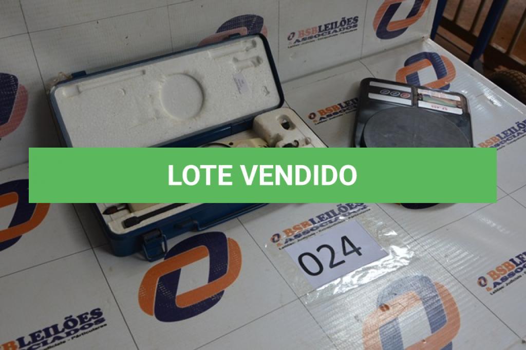 LOTE 024 - 01 BALANÇA DIGITAL DE NO MÁXIMO 10 KG E 01 DUROMETRO.(NO ESTADO)