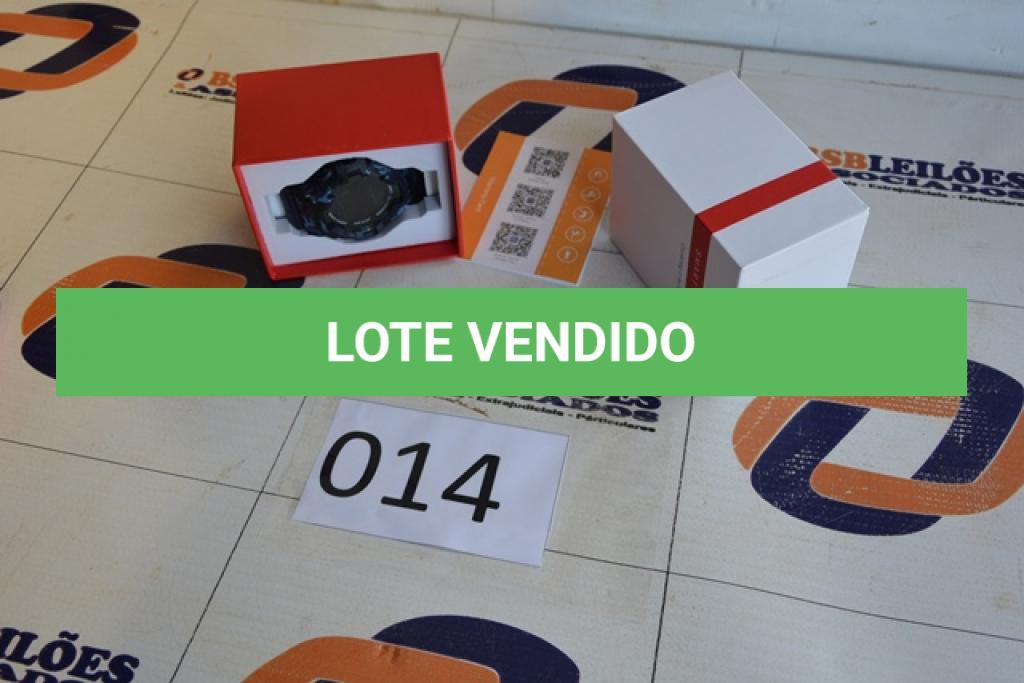 LOTE 014 - 01 RELÓGIO SMART WHATCH ESTILO G-SHOCK LANÇAMENTO.(NO ESTADO)