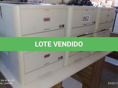 LOTE 062 - 01 LOTE DE IMPRESSORAS DIVERSAS. (NO ESTADO)