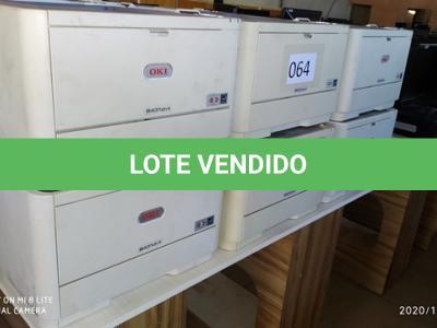 LOTE 064 - 01 LOTE DE IMPRESSORAS DIVERSAS. (NO ESTADO)