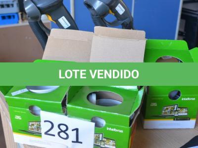LOTE 281 - 02 LEITORES DE CÓDIGO DE BARRAS E 04 CÂMERAS DE SEGURANÇA.(NO ESTADO)