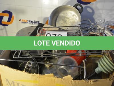LOTE 078 - 01 LOTE COM DIVERSOS UTENSÍLIOS DE COZINHA.(NO ESTADO)